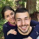Yulia Agranovych with her husband Nazar Grynko