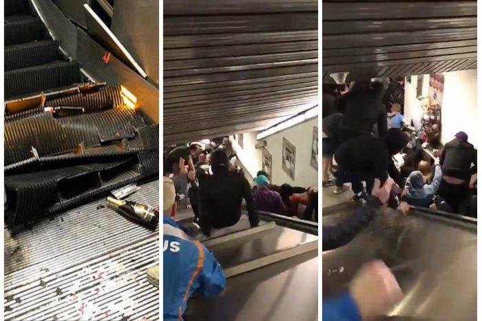 Accident la metroul din Roma: 20 de oameni răniți după ce o scară rulantă a cedat VIDEO