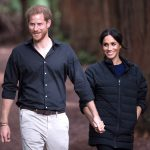 Prince Harry and Meghan Duchess of Sussex walk through the Redwoods Treewalk in Rotorua. Prince Harry and Meghan Duchess of Sussex tour of New Zealand - 31 Oct 2018