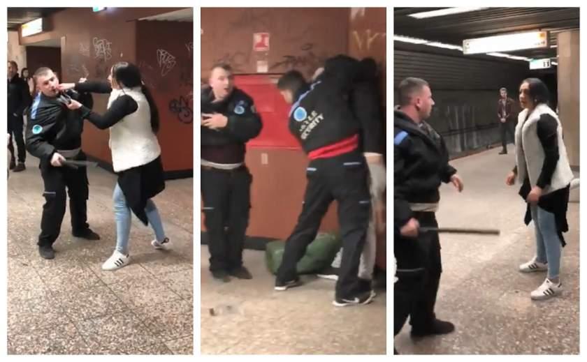 bataie intre tigani si agentii de paza in statia de metrou Basarab 11