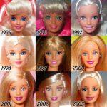 Transformarile papusii Barbie de-a lungul anilor