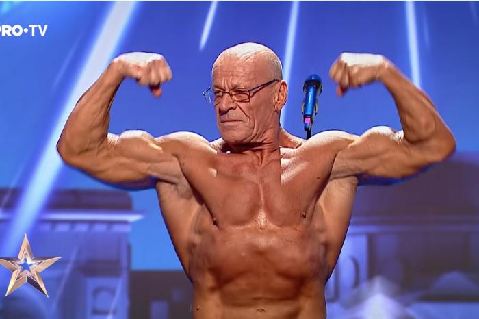Barbatul din Navodari are 68 de ani si arata incredibil! S-a dezbracat pe scena Romanii au Talent si toata lumea a ramas stupefiata de cum putea sa arate!