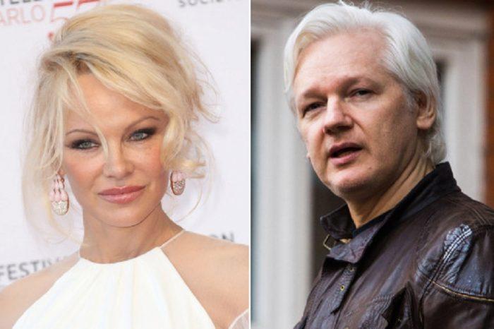 Pamela Anderson si Julian Assange. Vedeta e implicata in scandalul legat de arestul lui! Pe cei doi i-ar uni o idila din trecut