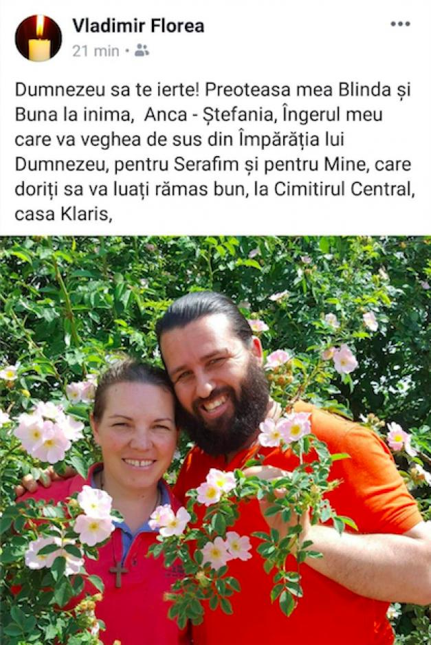 Sotia preotului Vladimir Florea s-a spanzurat in Joia Mare (1)