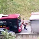 A lovit cu autobuzul un pieton, in mod intentionat