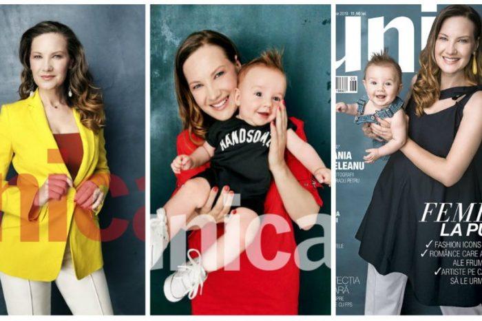 Fiul Melaniei Medeleanu e superb! Cei doi au pozat pentru Revista Unica