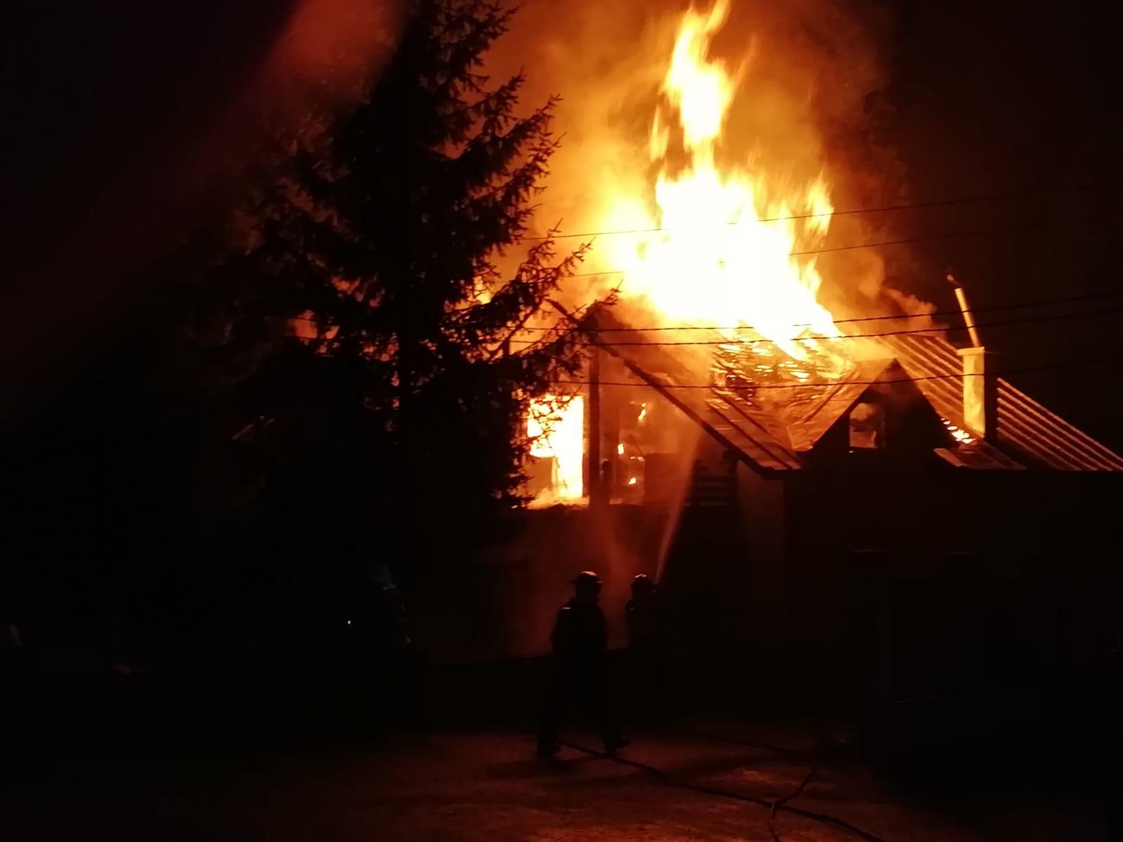 Incendiu devastator in Bistrita