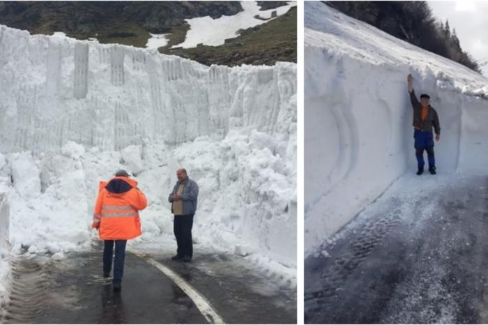 Cand se deschide Trasfagarasanul 2019?! Drumarii au inceput acum sa curete zapada care pe alocuri are peste 7 metri! Imagini cu nametii uriasi! VIDEO