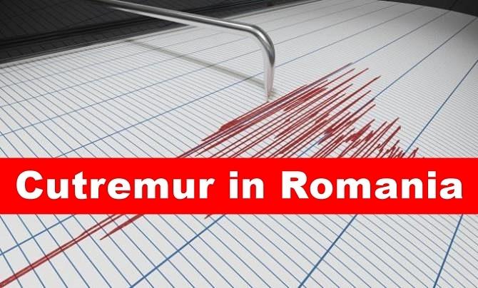Cutremur cu magnitudinea de 4,1 grade pe scara Richter, în județul Vrancea