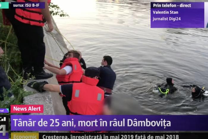 Un barbat de 25 de ani a murit inecat in Dambovita, in Regie, imediat dupa ce a sarit in apa sa salveze un baiat de 16 ani! Imagini dramatice!