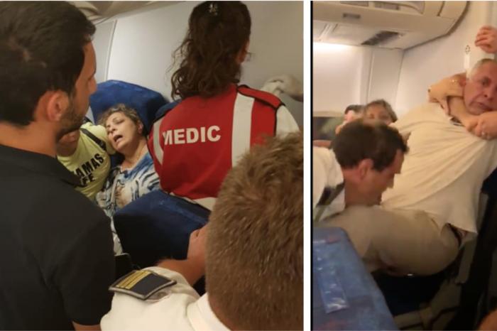 Scandal monstru intr-un avion Tarom pe pista de la Otopeni! O femeie a scuipat echipajul iar un barbat a fost scos in catuse din aeronava! VIDEO