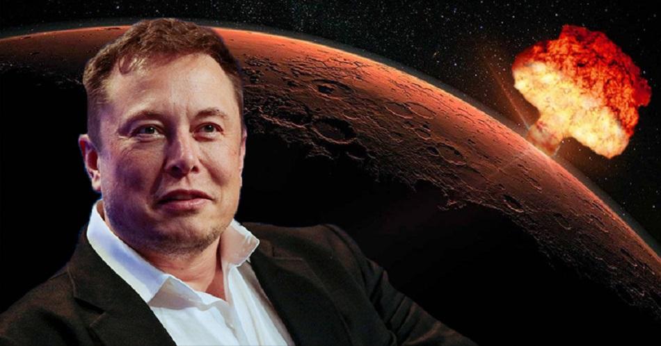 Elon Musk vrea sa lanseze bombe nucleare pe planeta Marte