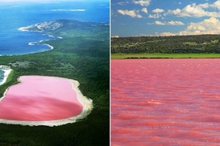 Lacul roz din Australia, una din minunile naturii! Ce ii da culoarea neobisnuita