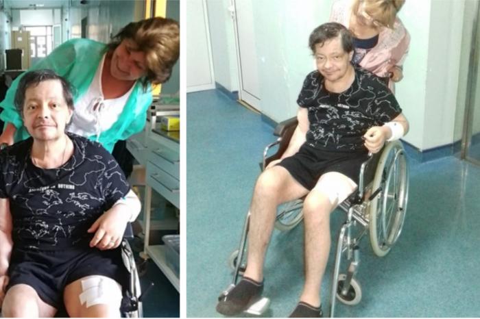 Imagine dureroasa! Leo Iorga de nerecunoscut dupa ce s-a operat de cancer la picior! A slabit enorm, a imbatranit mult si nu mai poate merge deloc.