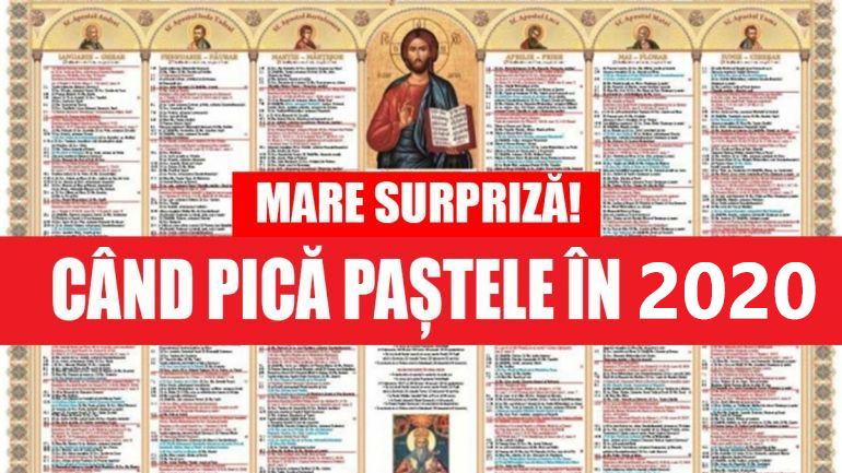 cand pica Pastele in 2020