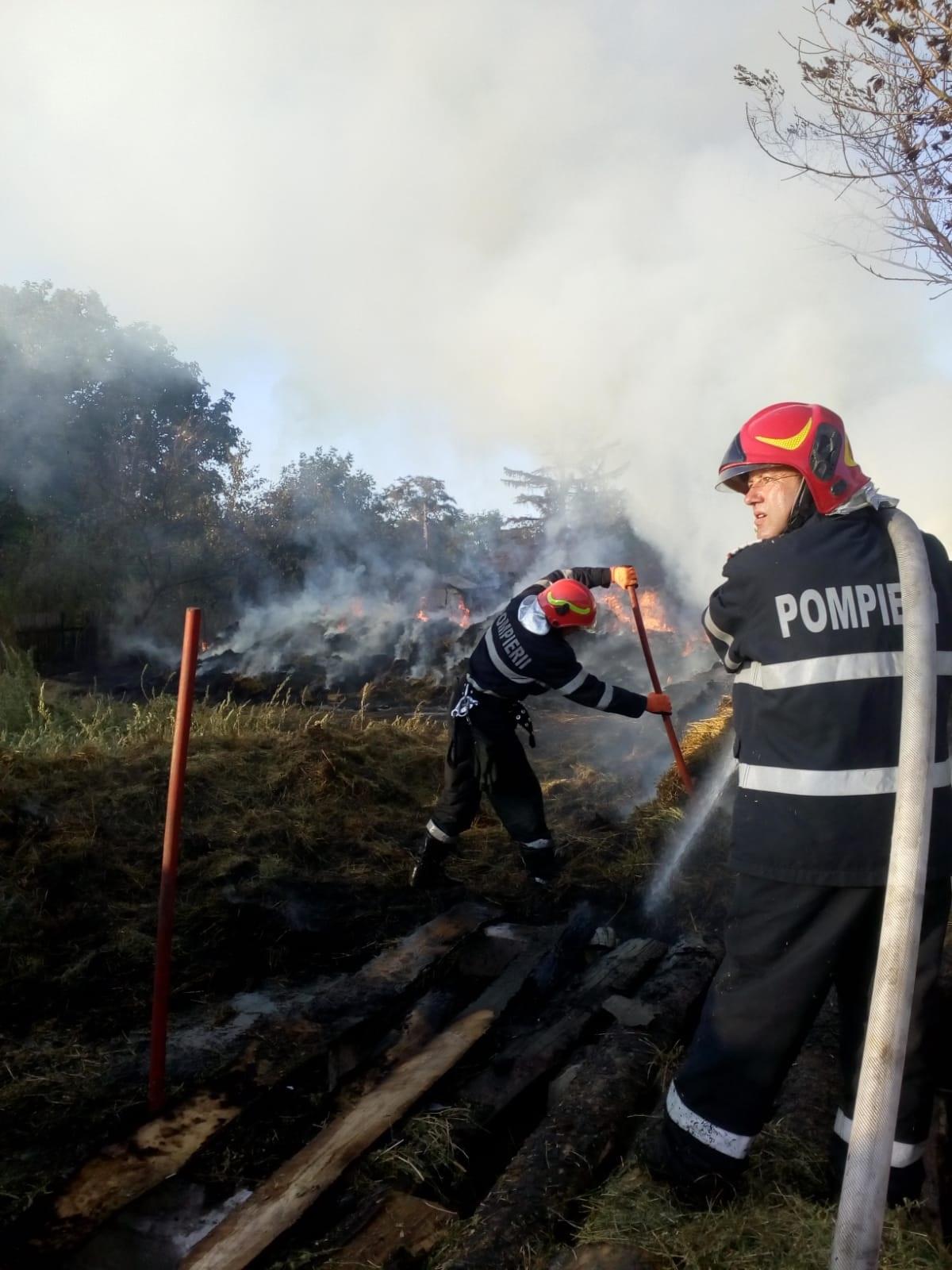 Intervenție a pompierilor din Botoșani