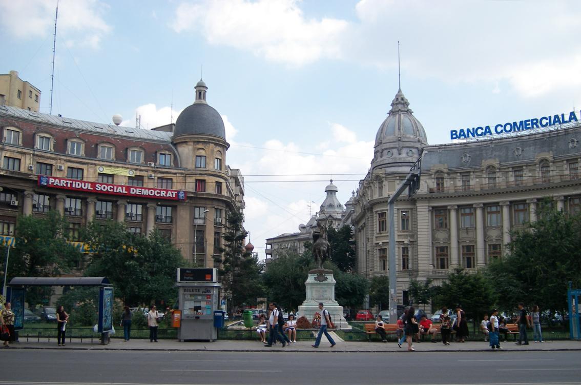 Statuile din Piața Universității din București