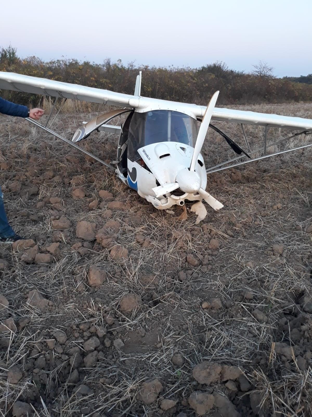 Aterizare forțată a unui avion