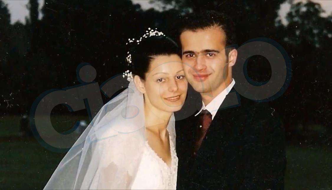 Mihai Gâdea și Agatha, în ziua nunții